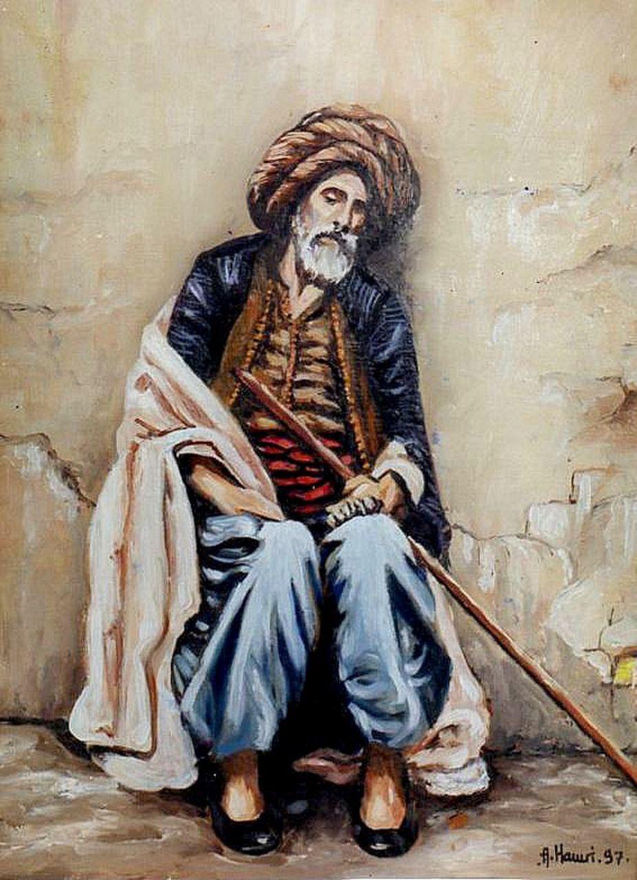 Abdelkrim Hamri Le repos du vieux Turc d'alger