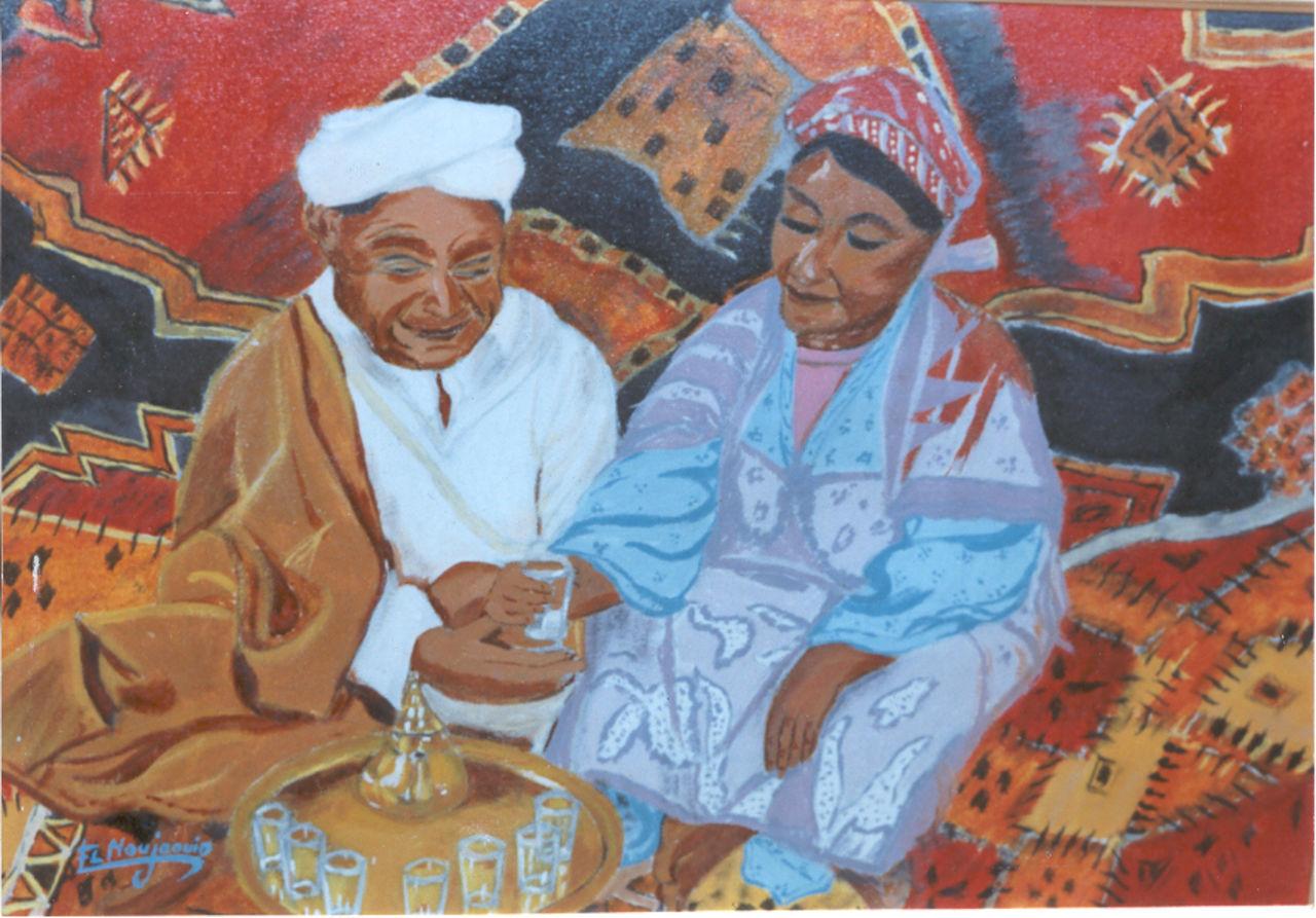 abderrahim ELMOUJAOUID cérémonie de thé