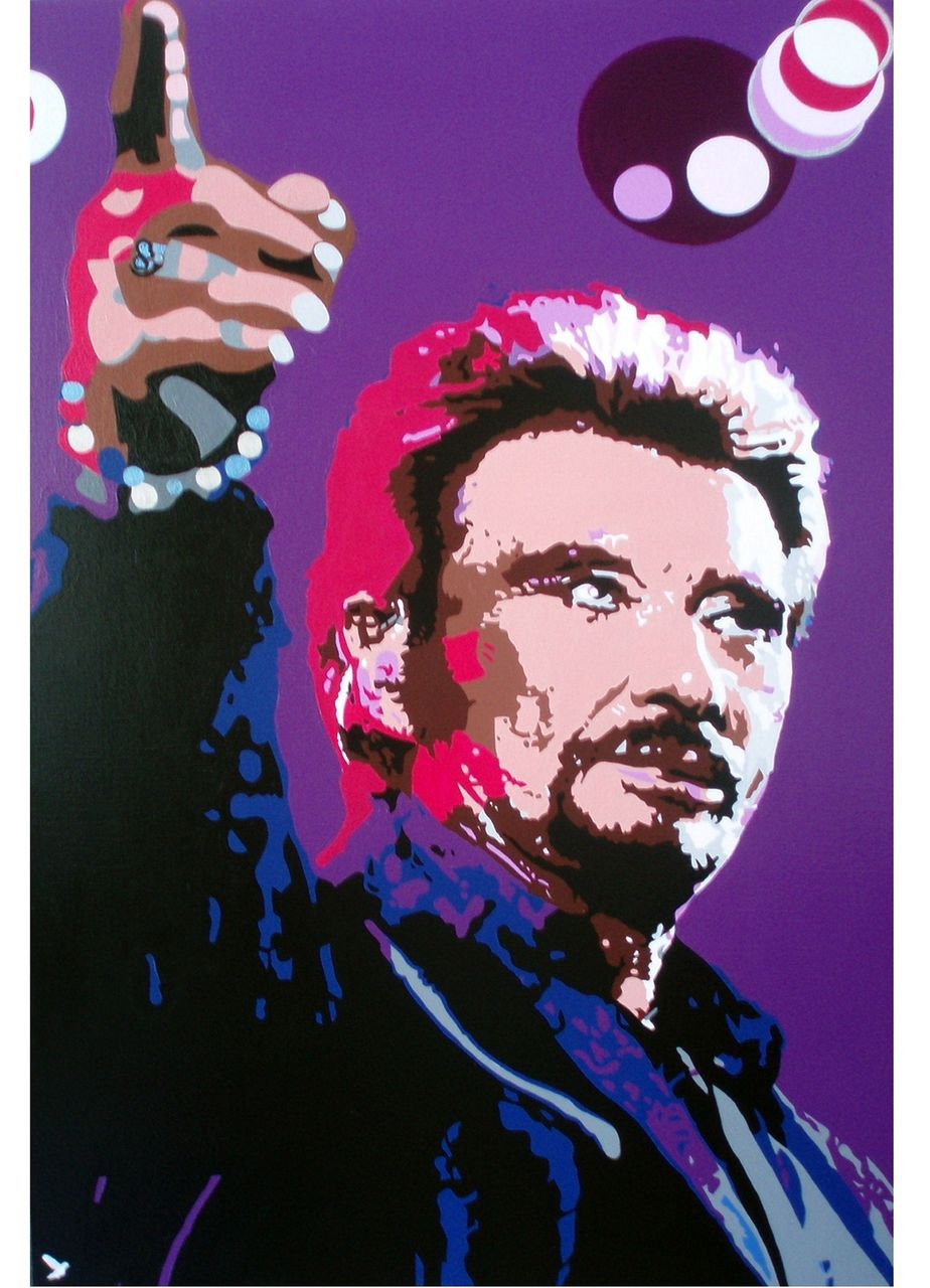 "Adolphe BARBONI JOHNNY HALLYDAY "" MA GUEULE """