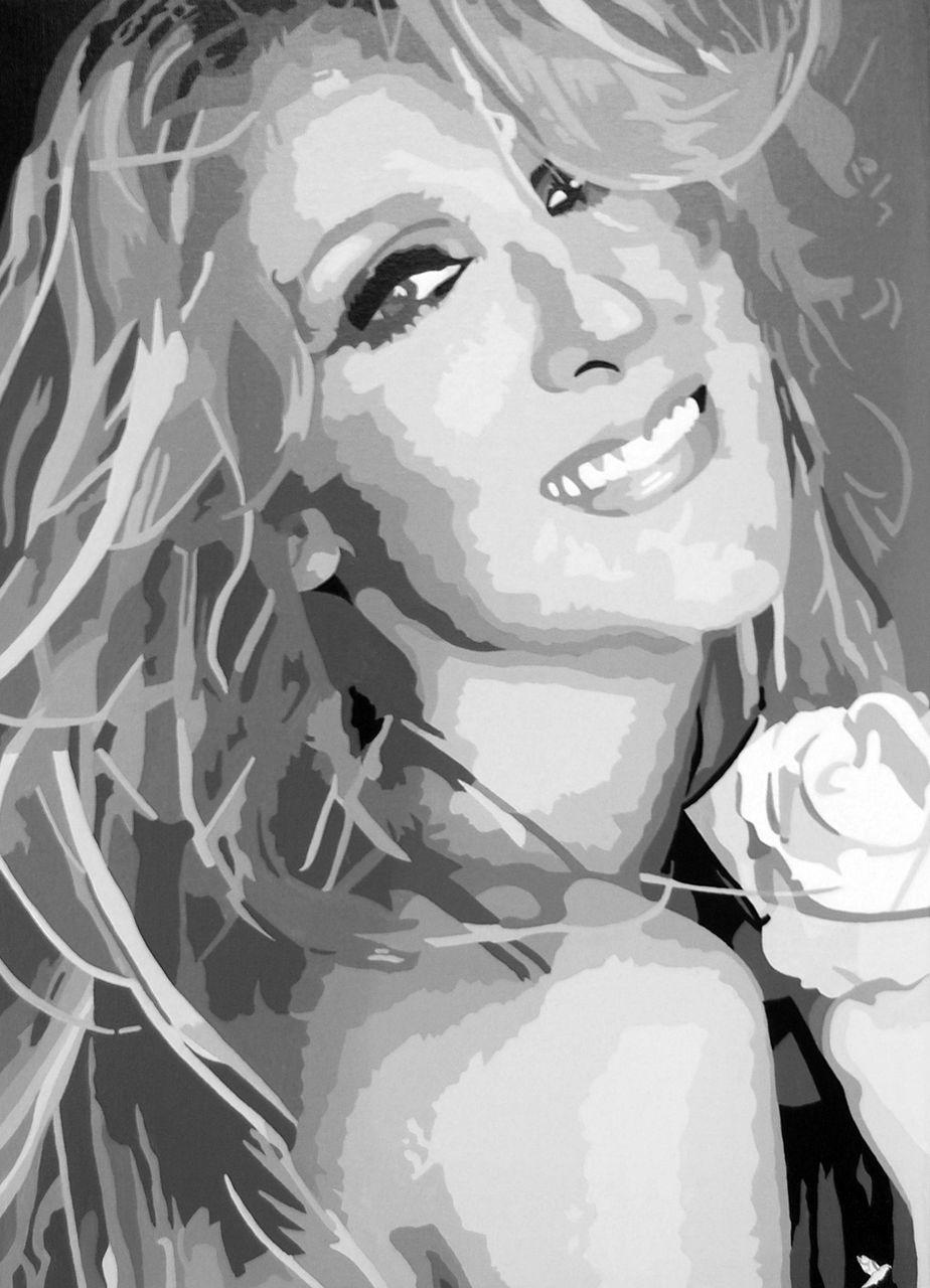 """Adolphe BARBONI Peinture """" Céline Dion """""""