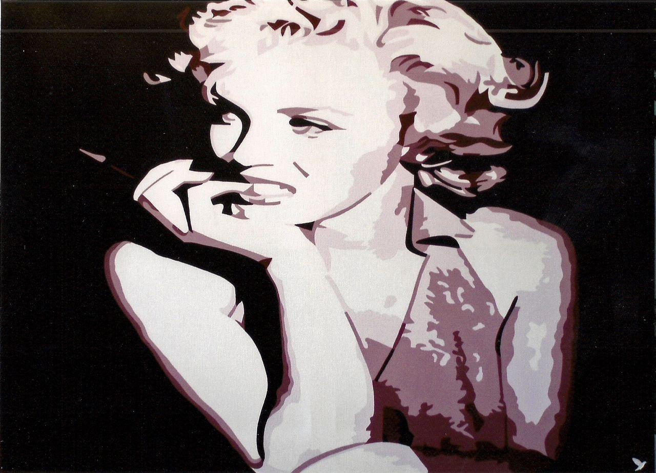 "Adolphe BARBONI POP ART "" MARILYN MOROE """
