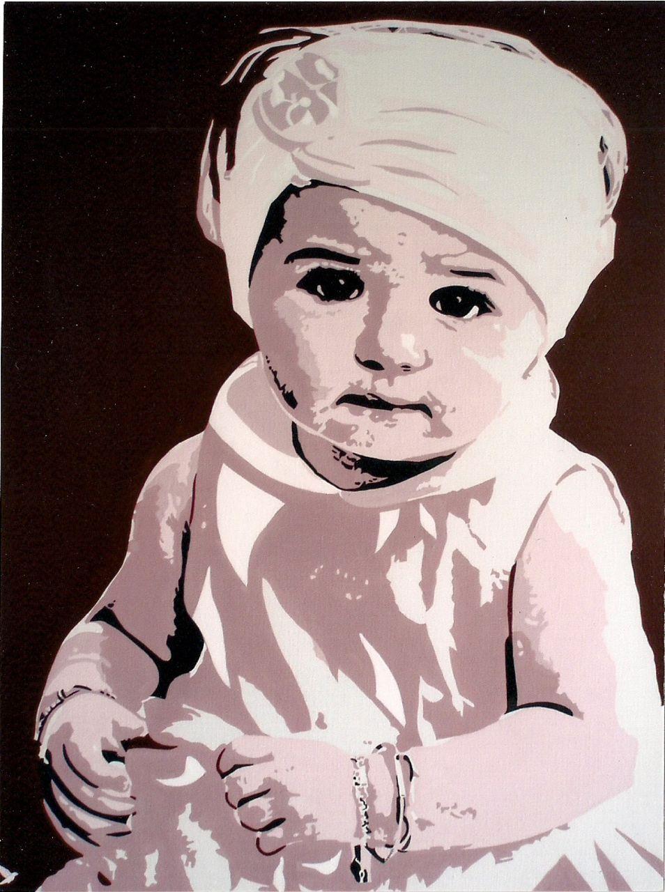 """Adolphe BARBONI """" PORTRAIT D'ENFANT """""""
