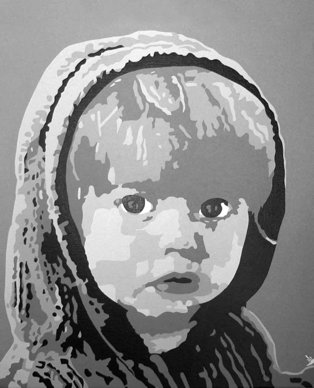 """Adolphe BARBONI """" PORTRAIT ENFANT """""""