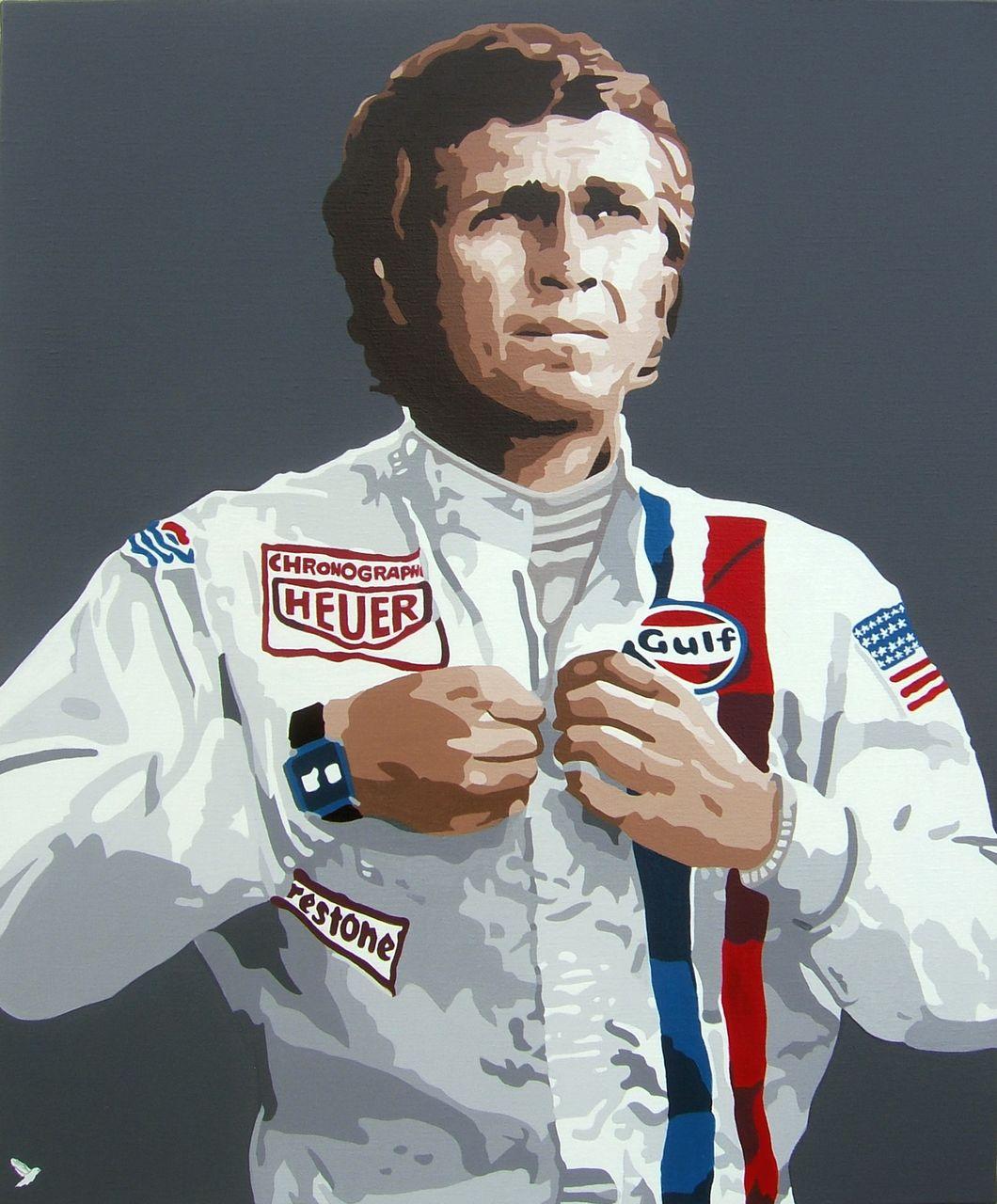 """Adolphe BARBONI Steve Macqueen """" Le Mans """""""