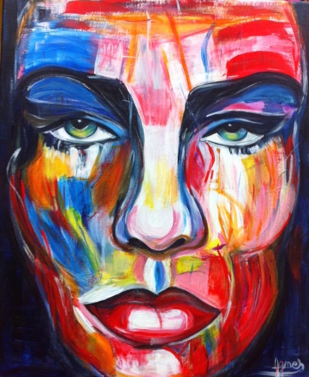 Agnes bens visage couleur