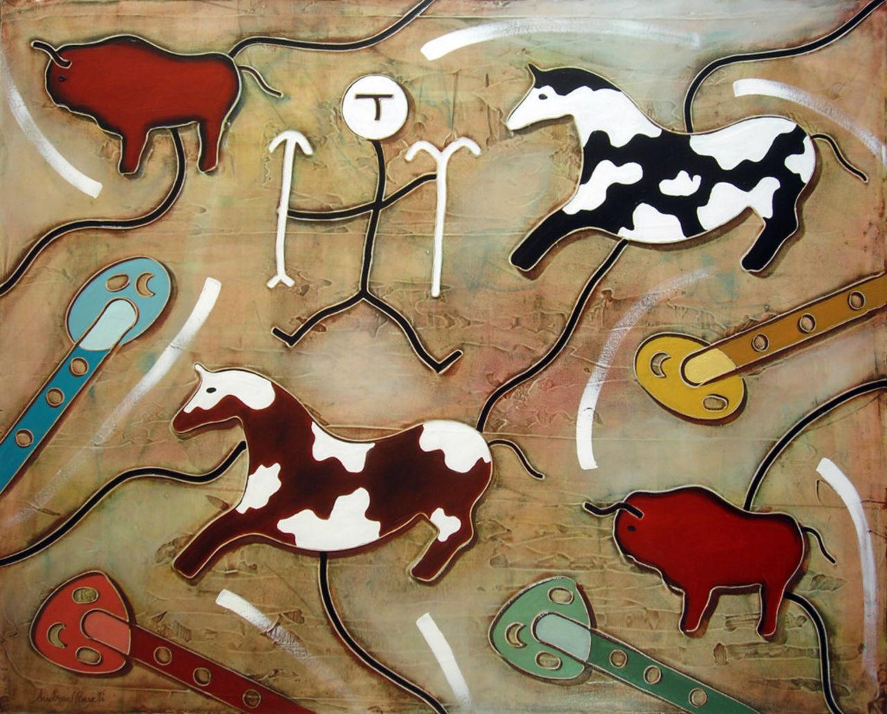 ANDREA BENETTI Cavalli e bisonti
