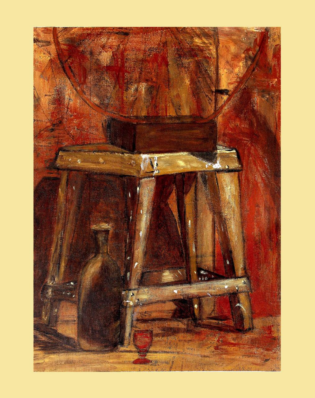 Anthony Oliver Tabouret du peintre