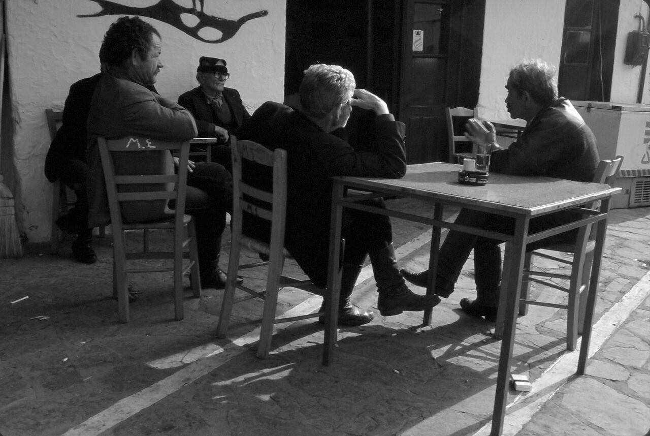 BARRE Yvon Cafeneon Crète 86
