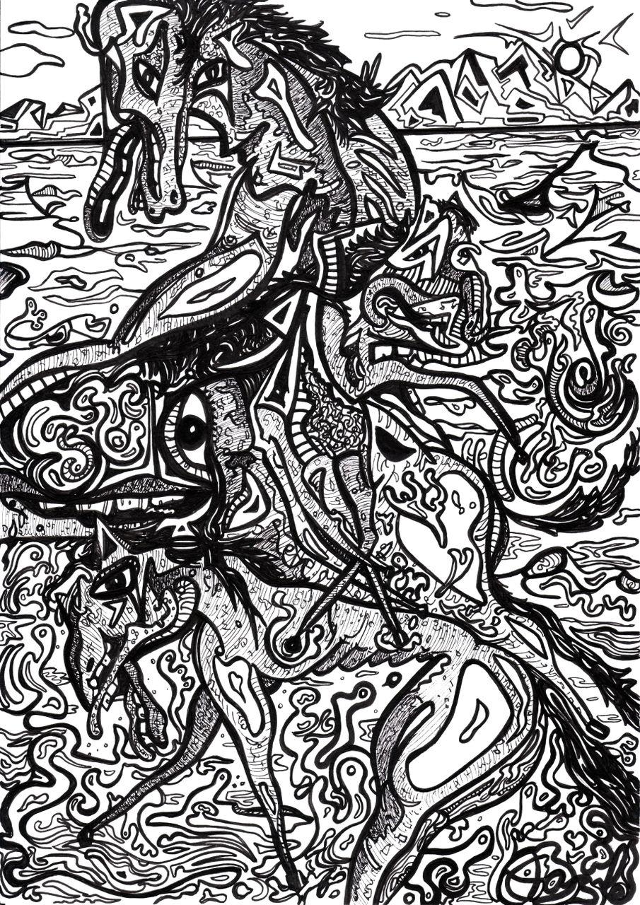 Basile Châtelain chevaux sur la plage