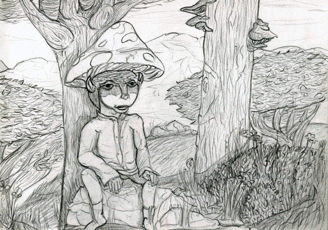 Basile Châtelain gnome champignon