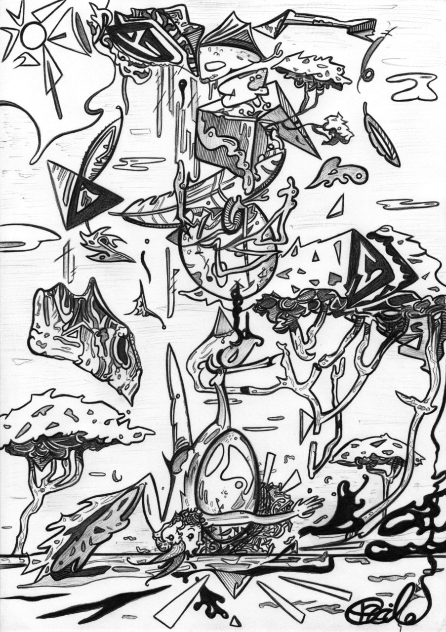 Basile Châtelain la chute d'Icare