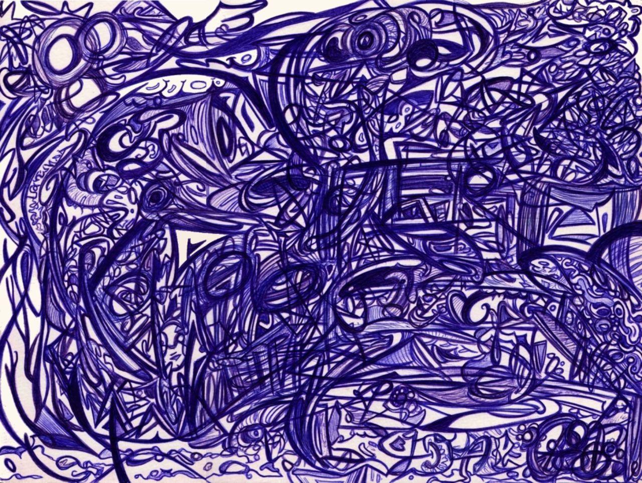 Basile Châtelain paysage bleu compulsif