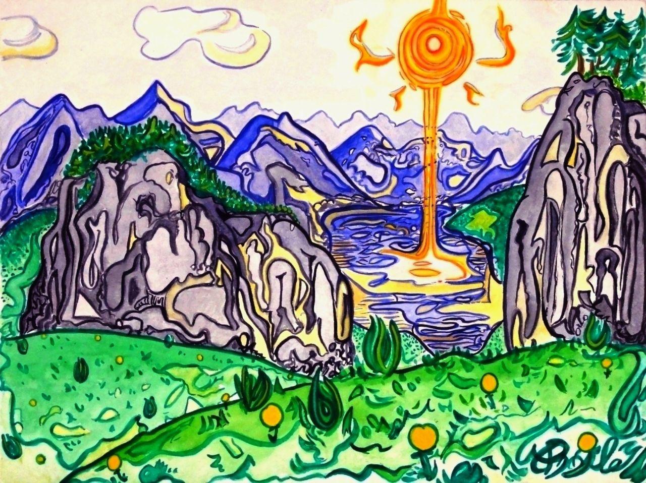 Basile Châtelain lac de montagne