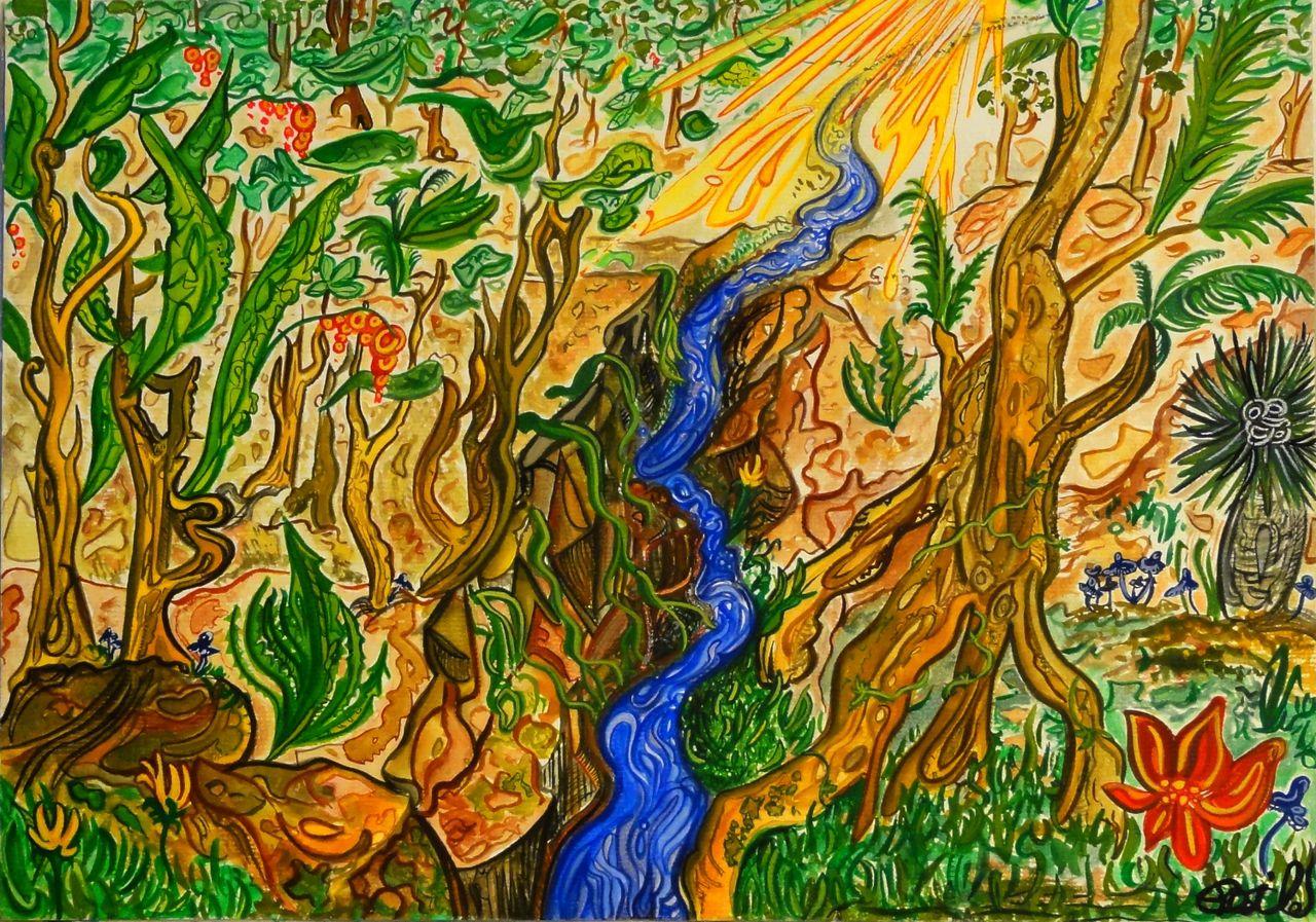 Basile Châtelain rivière tropicale