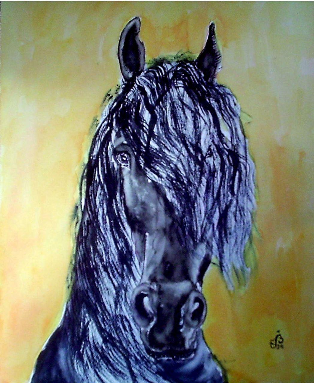 BELLETOU Cheval noir