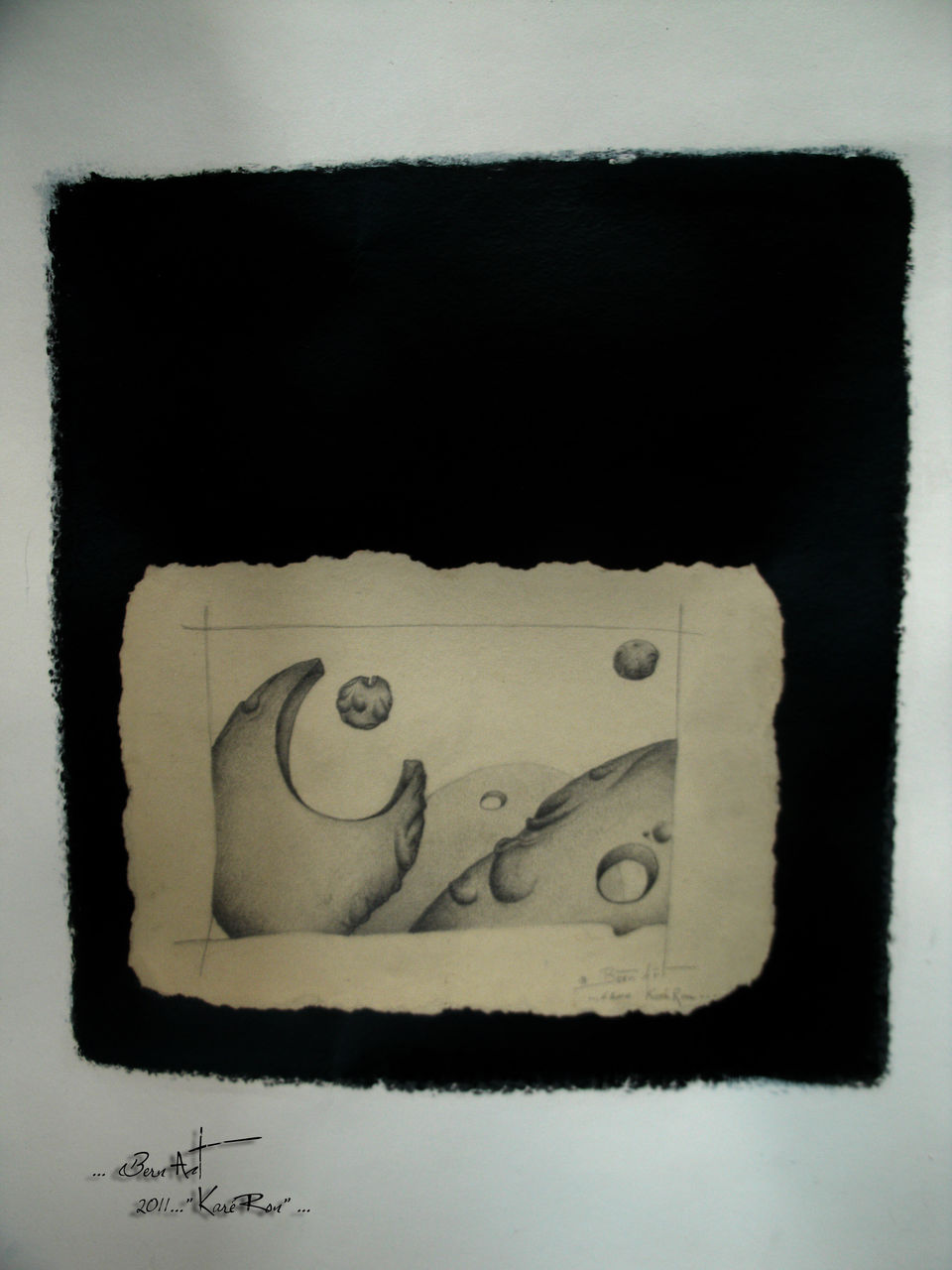 "Bern Art ""KaréRon"" P.erramant  ... Centitre Treiz2 62x47"