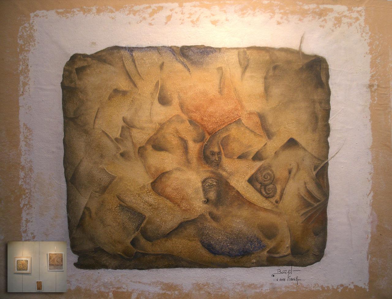 """Bern Art """"KaréRon"""" P.erramant  centitre treizprime 54x66"""