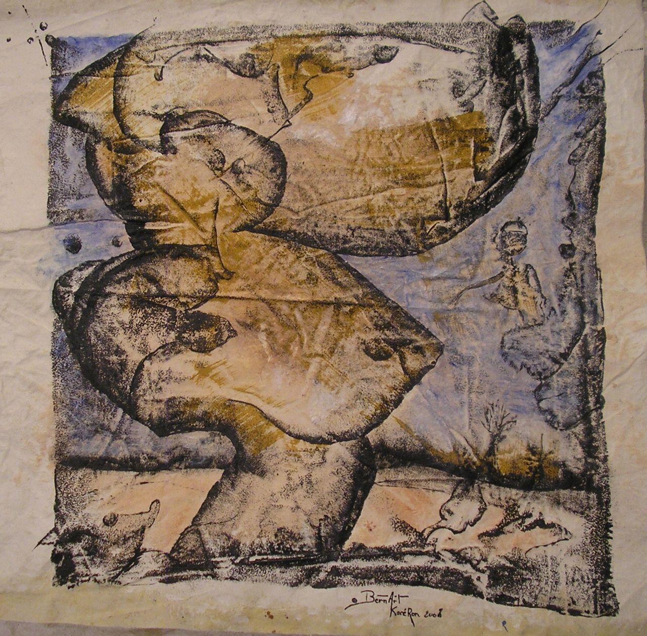 """Bern Art """"KaréRon"""" P.erramant ...centitre neuve ..."""