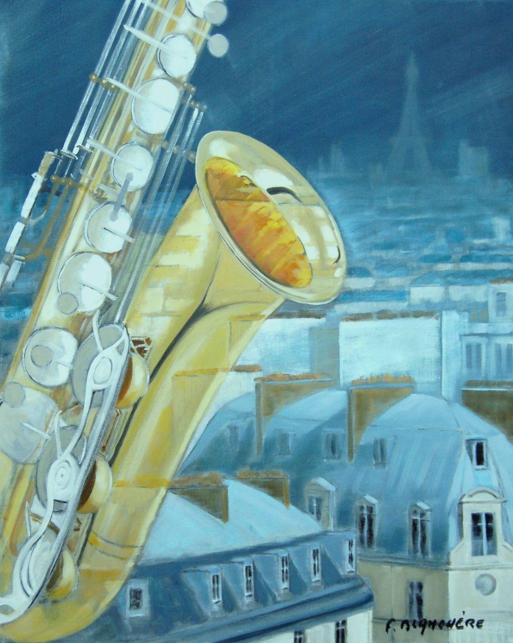 Blanchère saxo sur la ville
