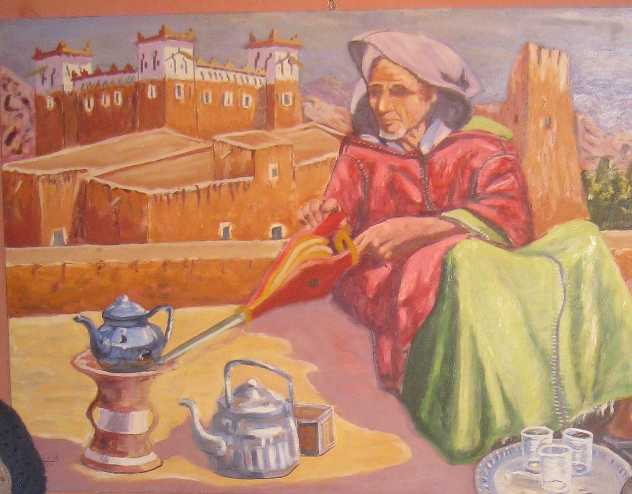 Braim Bouzir le vieil homme qui prépare le té