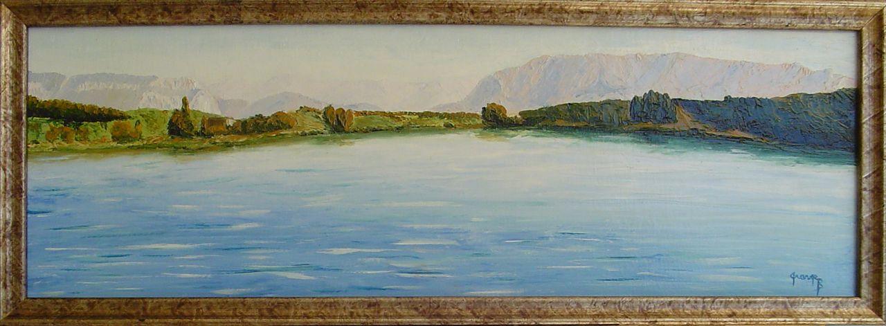Brigitte  Grange Le lac de Mison