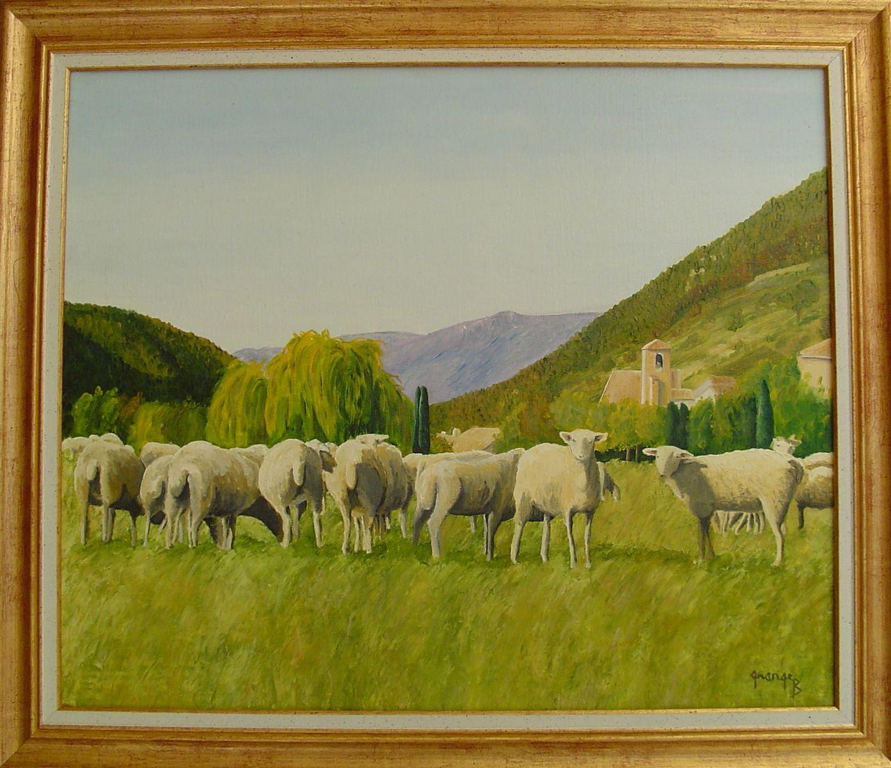 Brigitte  Grange Les moutons de Chauvac