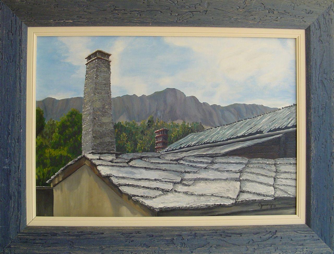 Brigitte  Grange Les toits de saint Veran