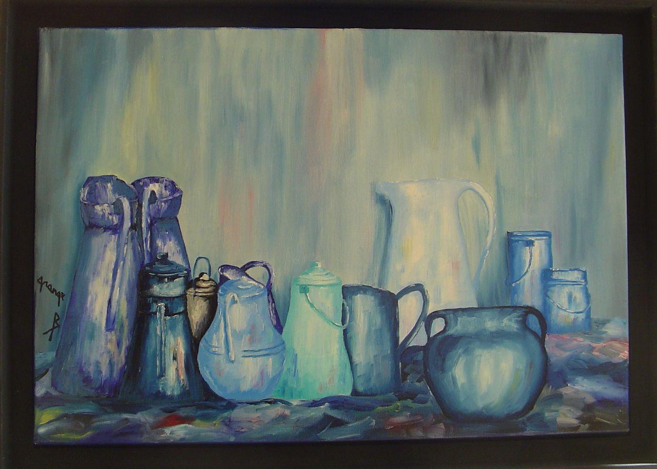 Brigitte  Grange Pots turquoise