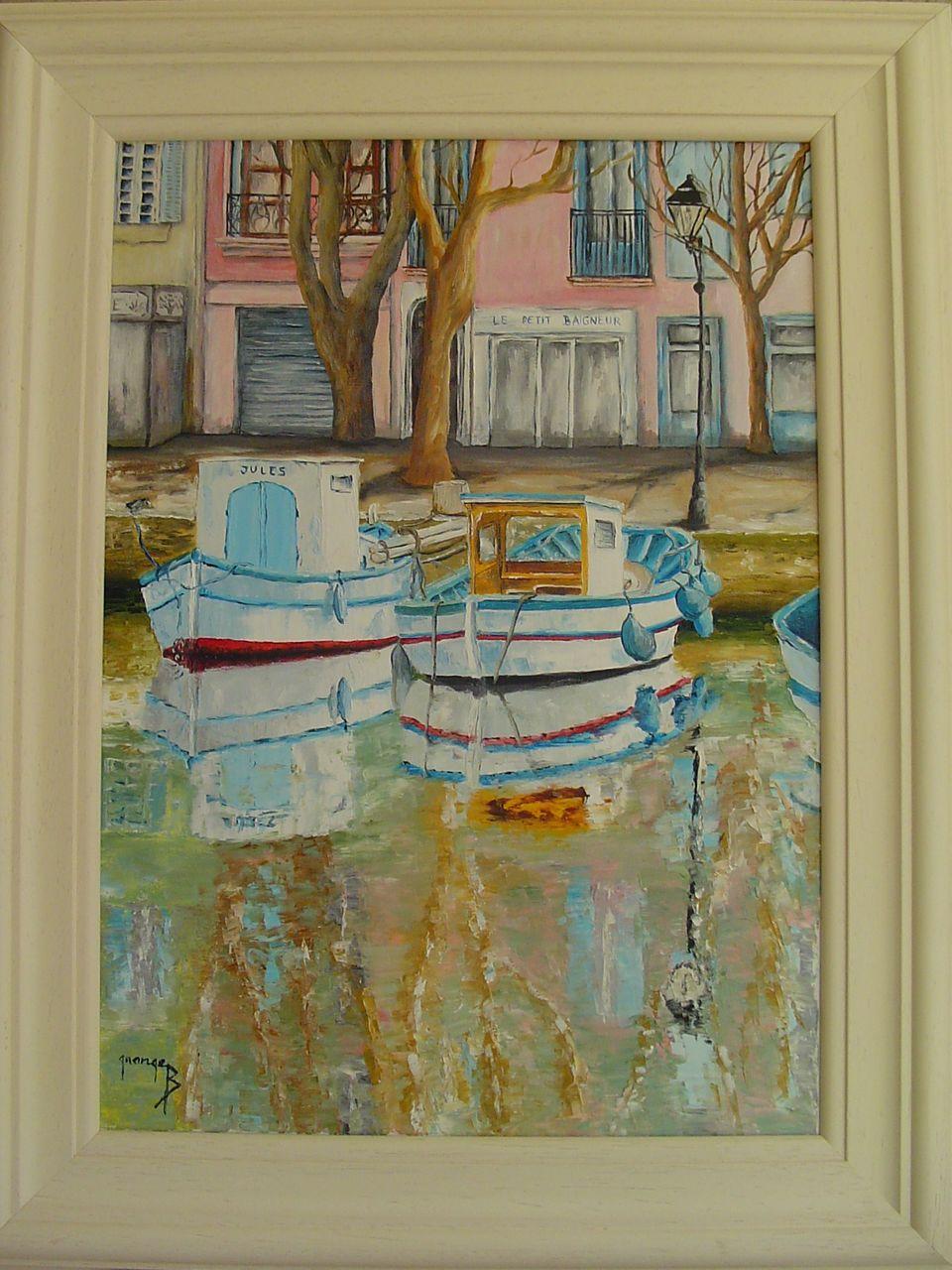 Brigitte  Grange Le canal de Martigues