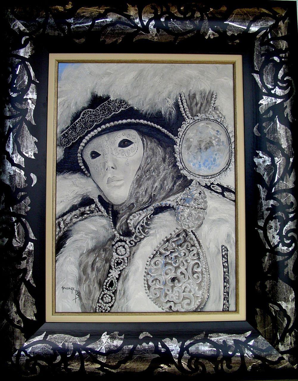 Brigitte  Grange Masque argent