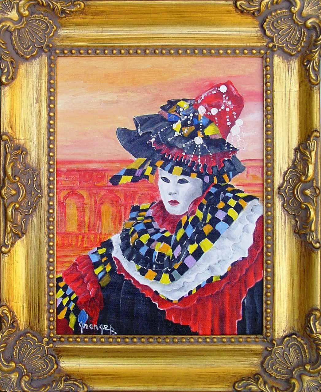 Brigitte  Grange Masque Arlequin