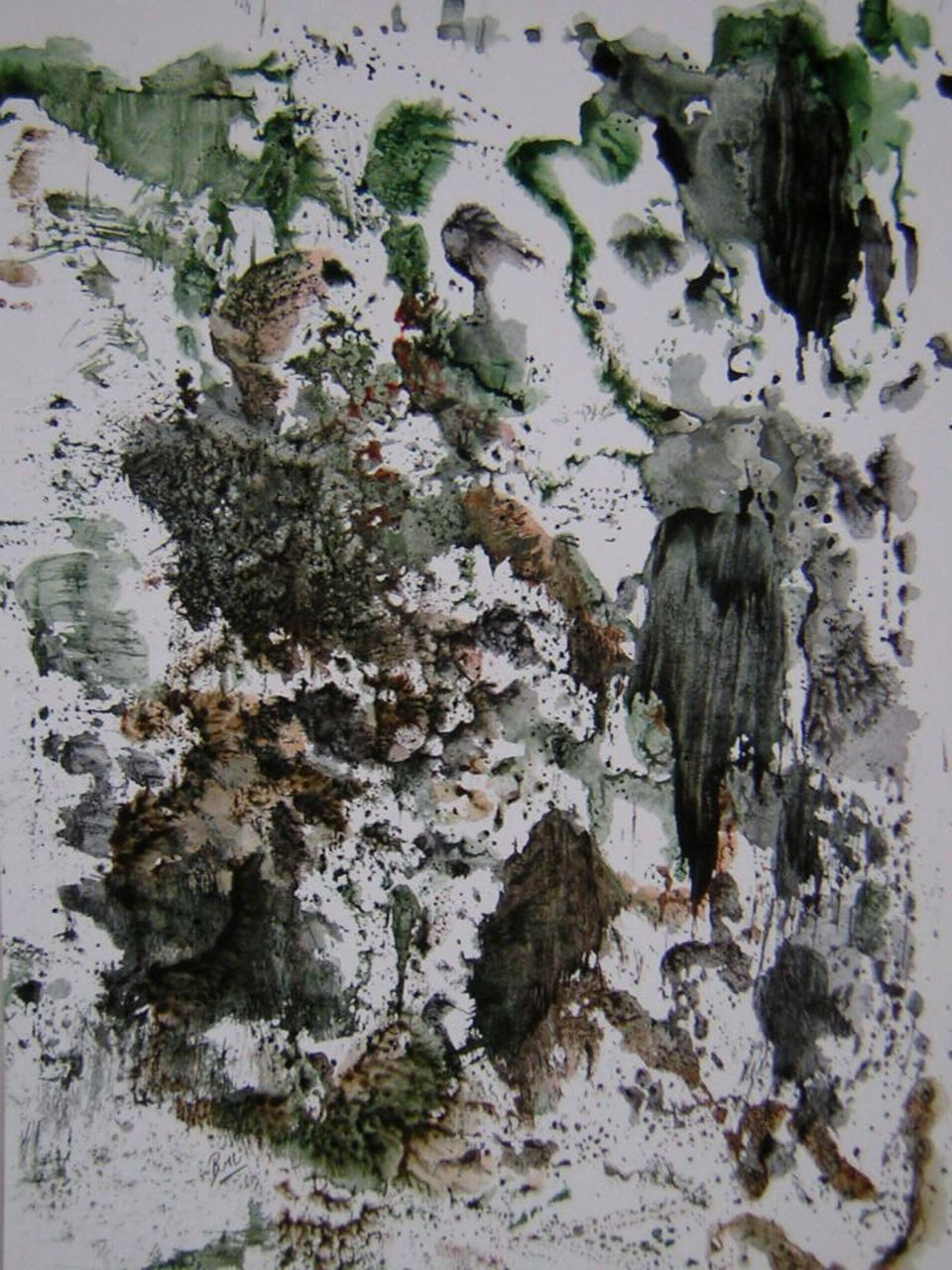 Brigitte Noelle Abstraction N°2 inspiration asiatique