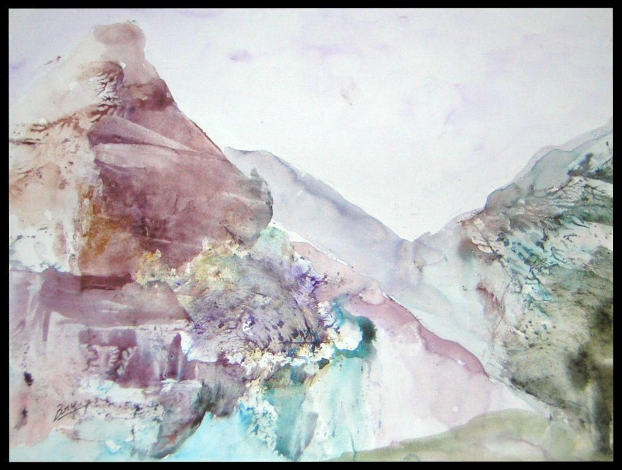 Brigitte Noelle montagne mauve