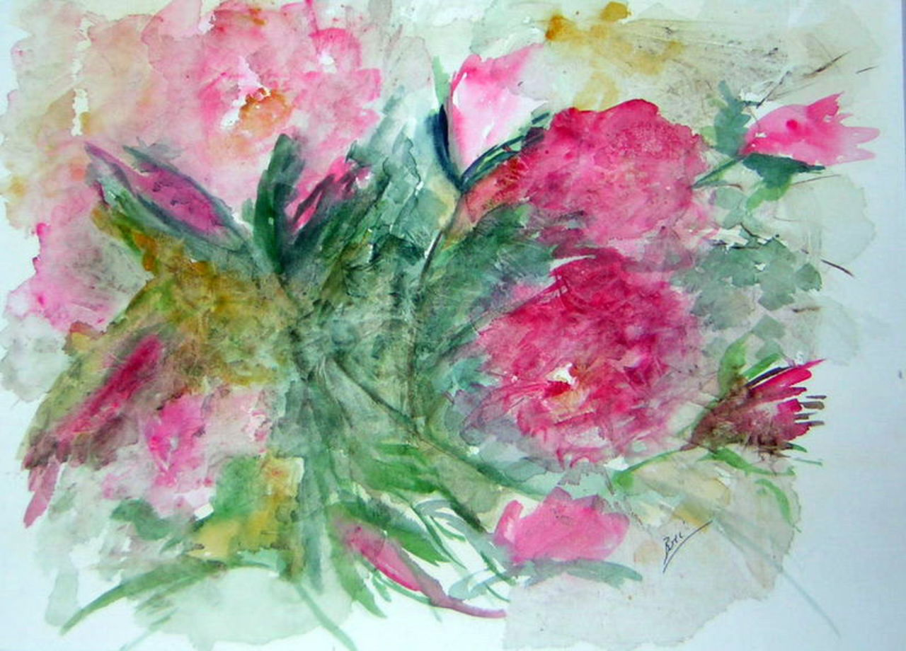 Brigitte Noelle flou de roses