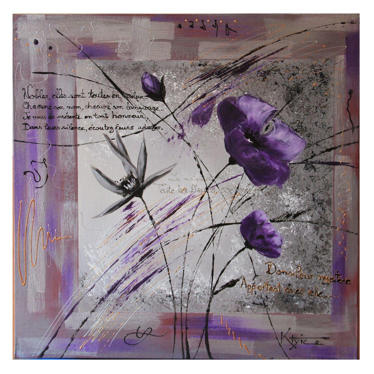 Catherine GRENOUILLAT Fleurs violettes