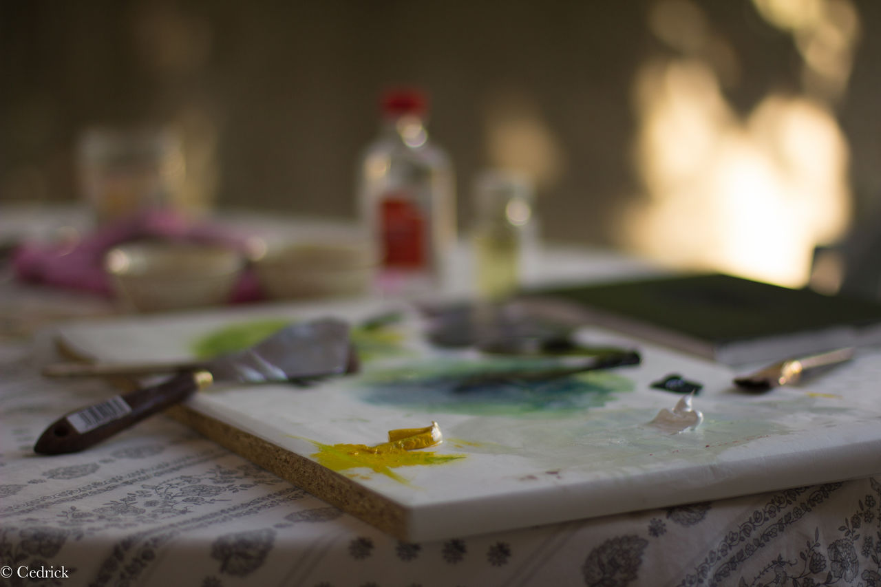 Cédrick Tux Les outils du peintre