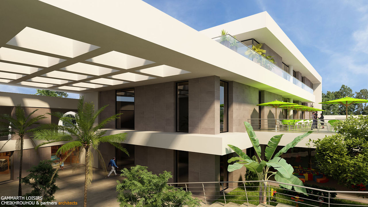 Cheikhrouhou & partners Architects Ghammarth , le loisir a son centre