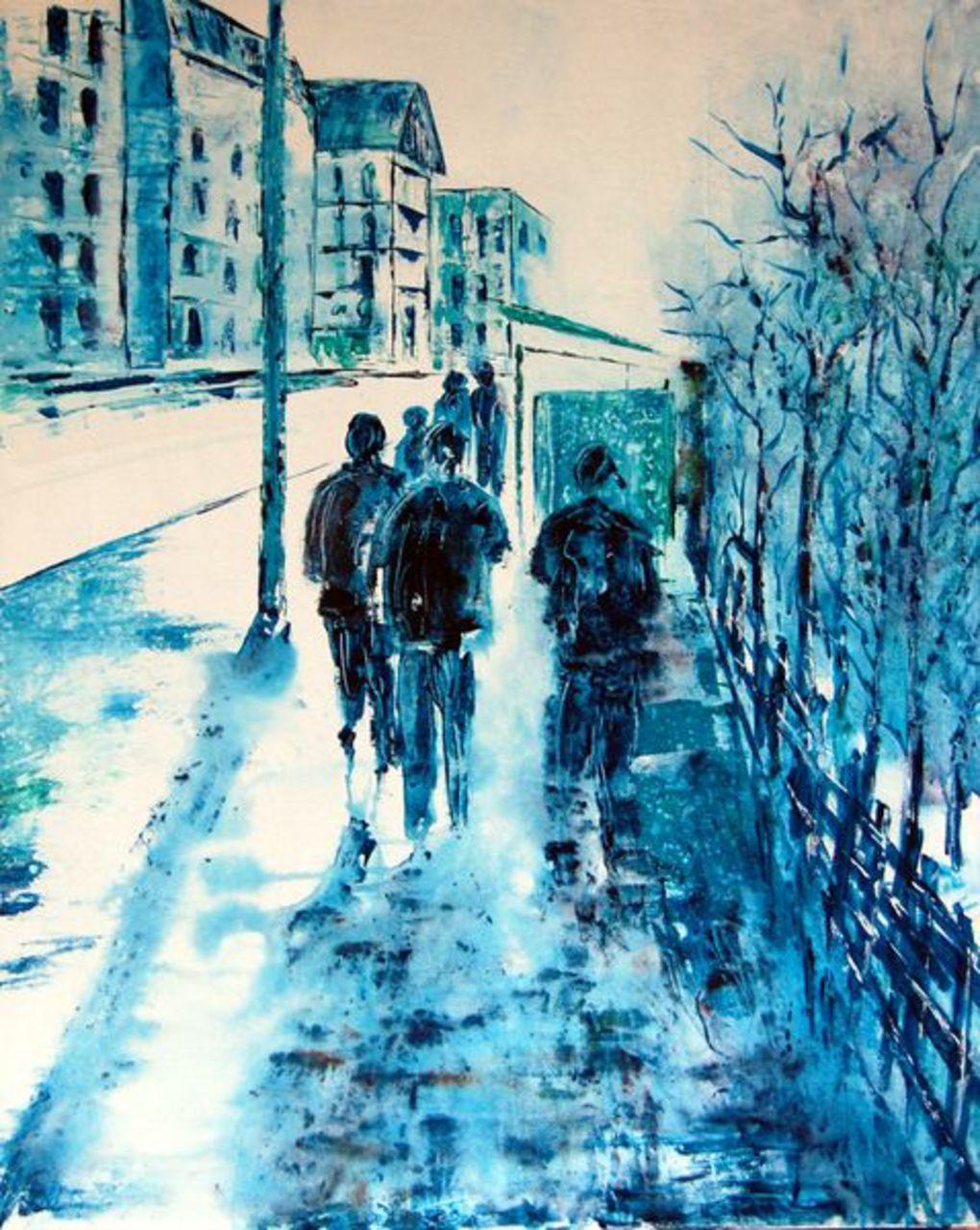 Christophe Cudel Vers l'arrêt de bus