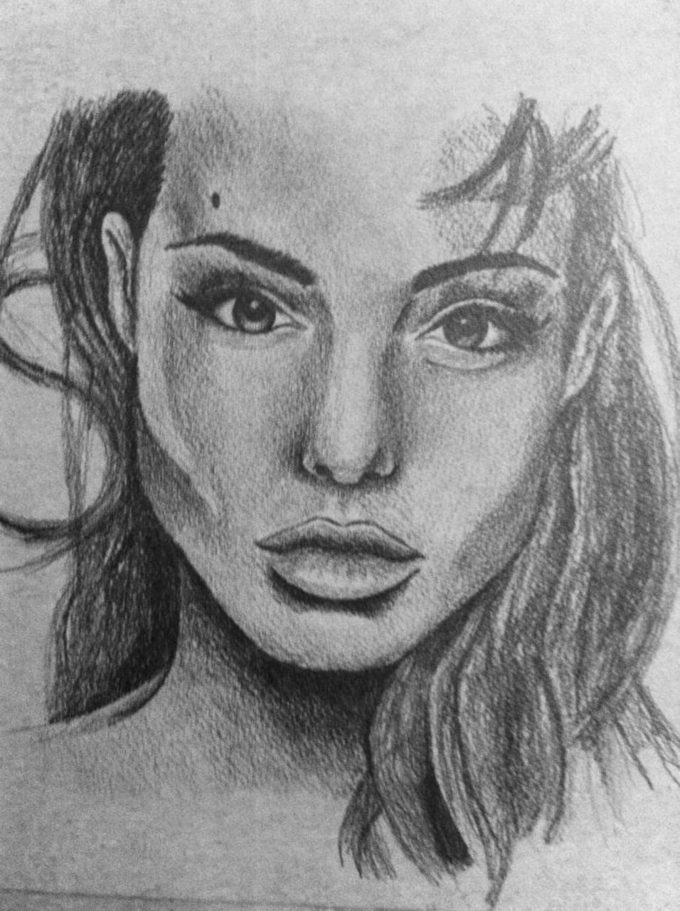 Crombois portrait Angelina Jolie