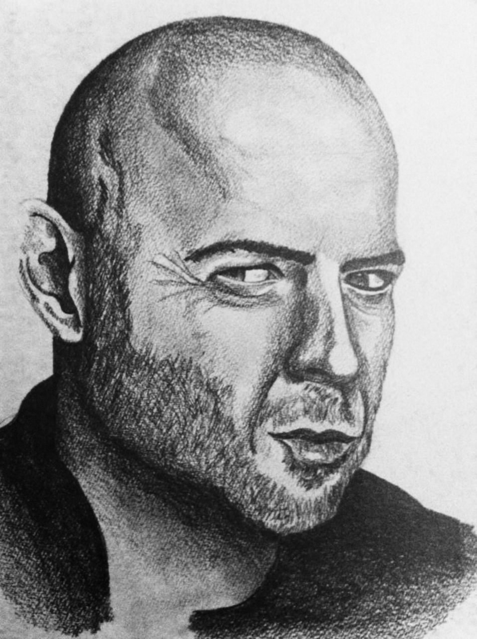 Crombois portrait Bruce Willis
