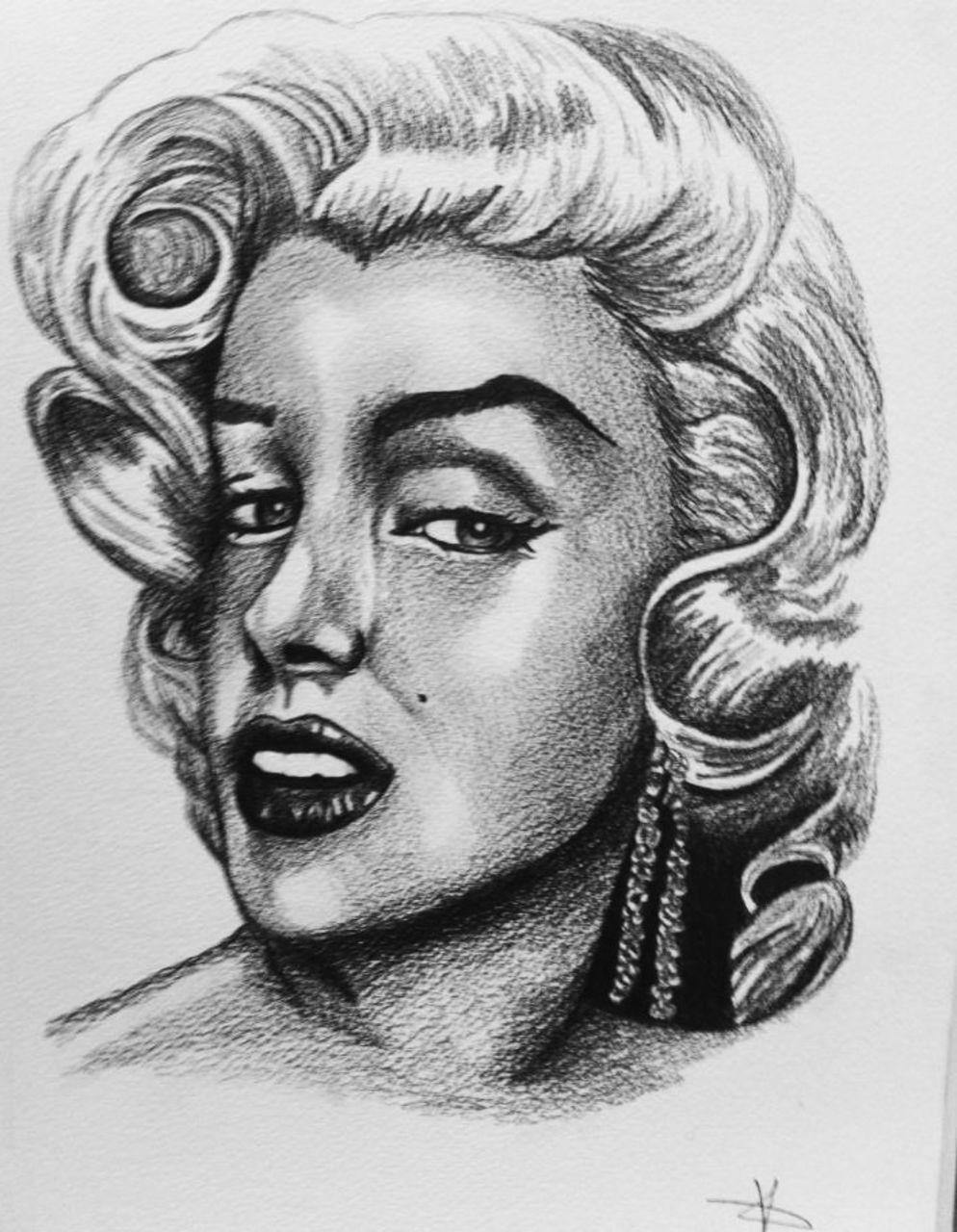 Crombois portrait Marilyn Monroe