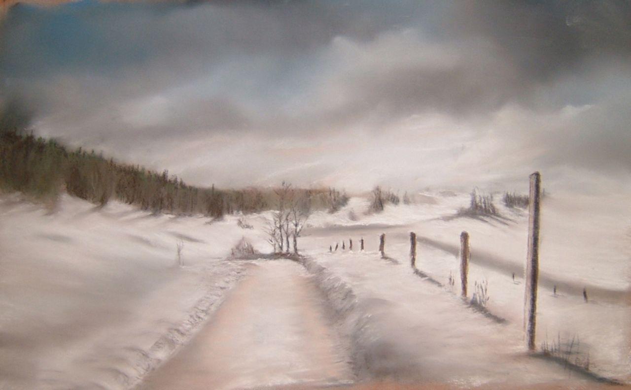 Daniel Riba Une route en hiver
