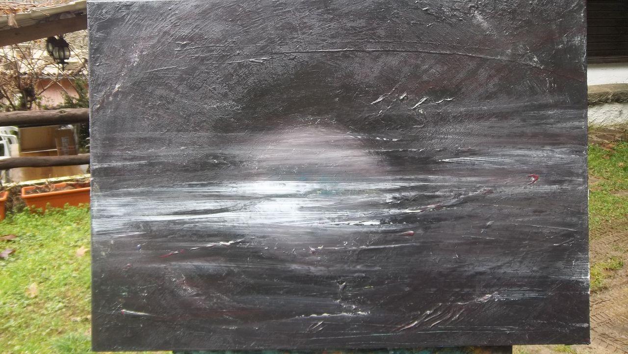 DANIELE FEDI mer noire avec la lune