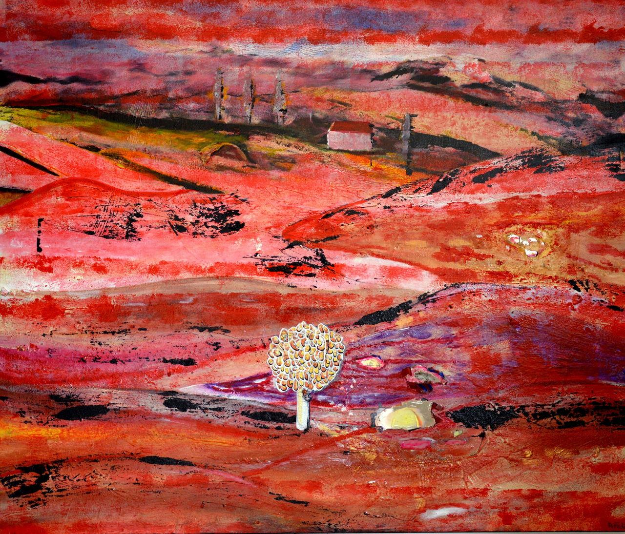 DANIELE FEDI Paysage rouge dans la campagne de la Toscane.
