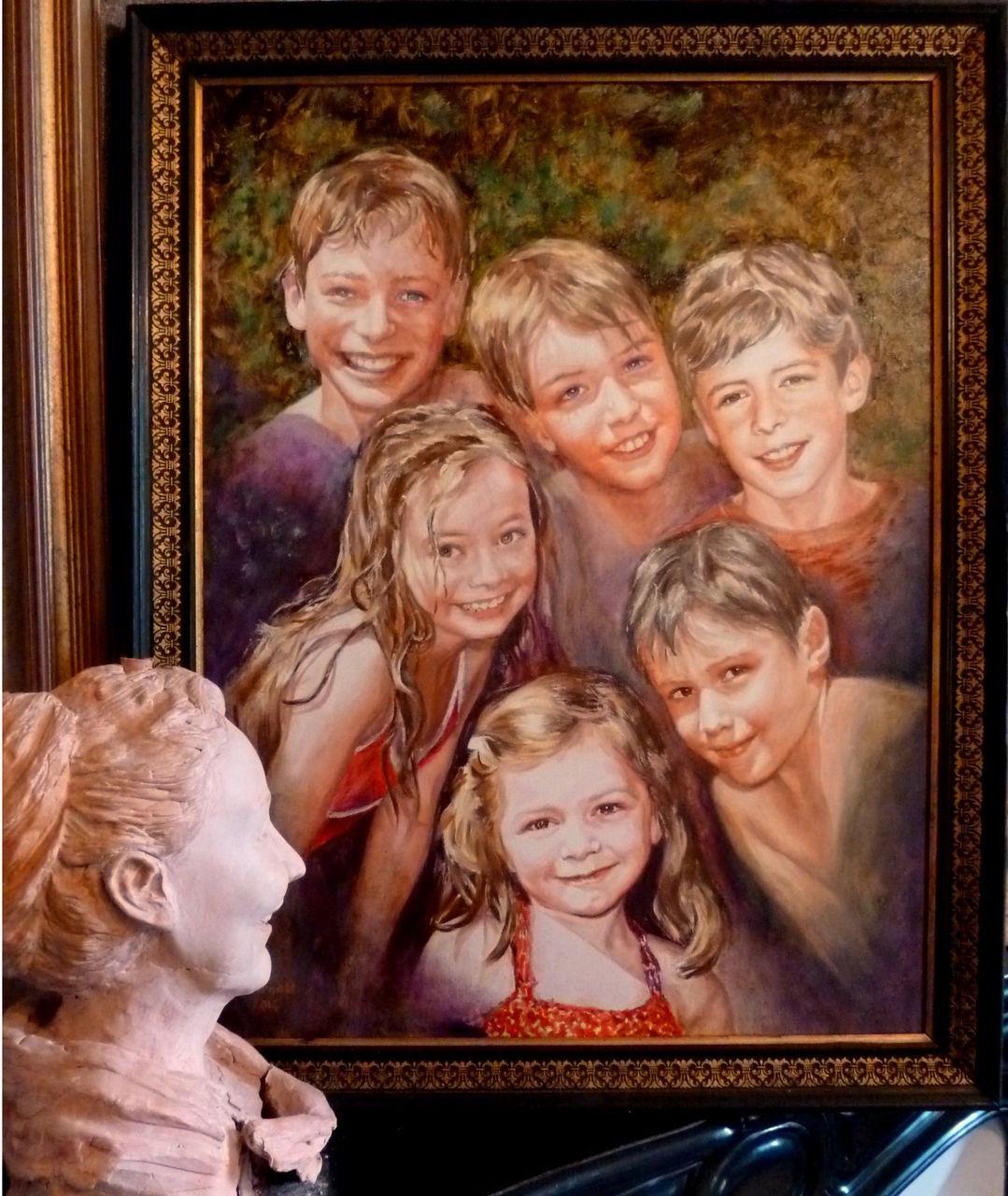 Danielle Arnal Mamie et ses petits-enfants