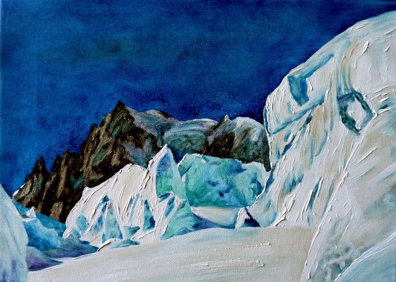 Danielle Arnal bleu glacier