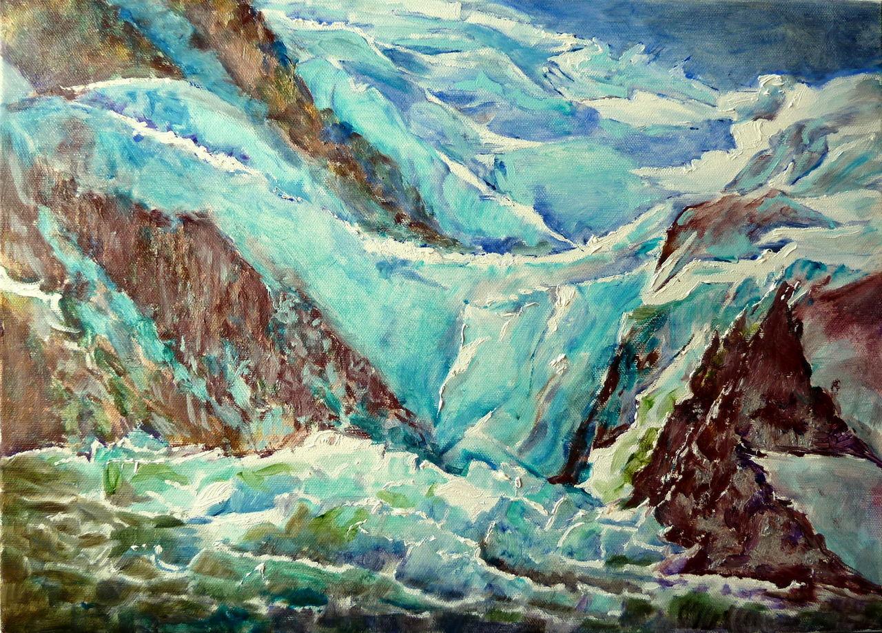 Danielle Arnal chute de glace sous le sommet du Mont Blanc