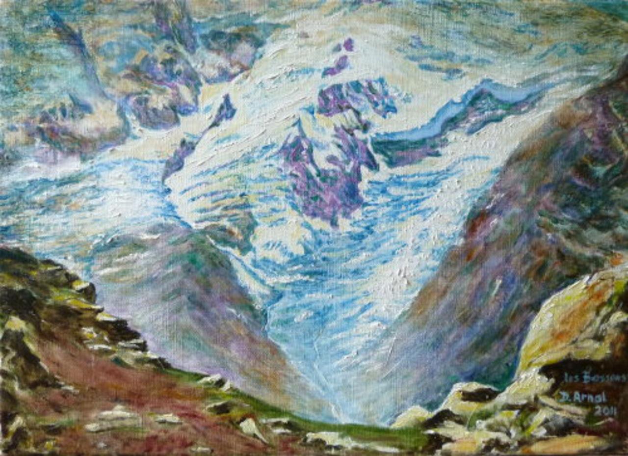 Danielle Arnal glacier des Bossons