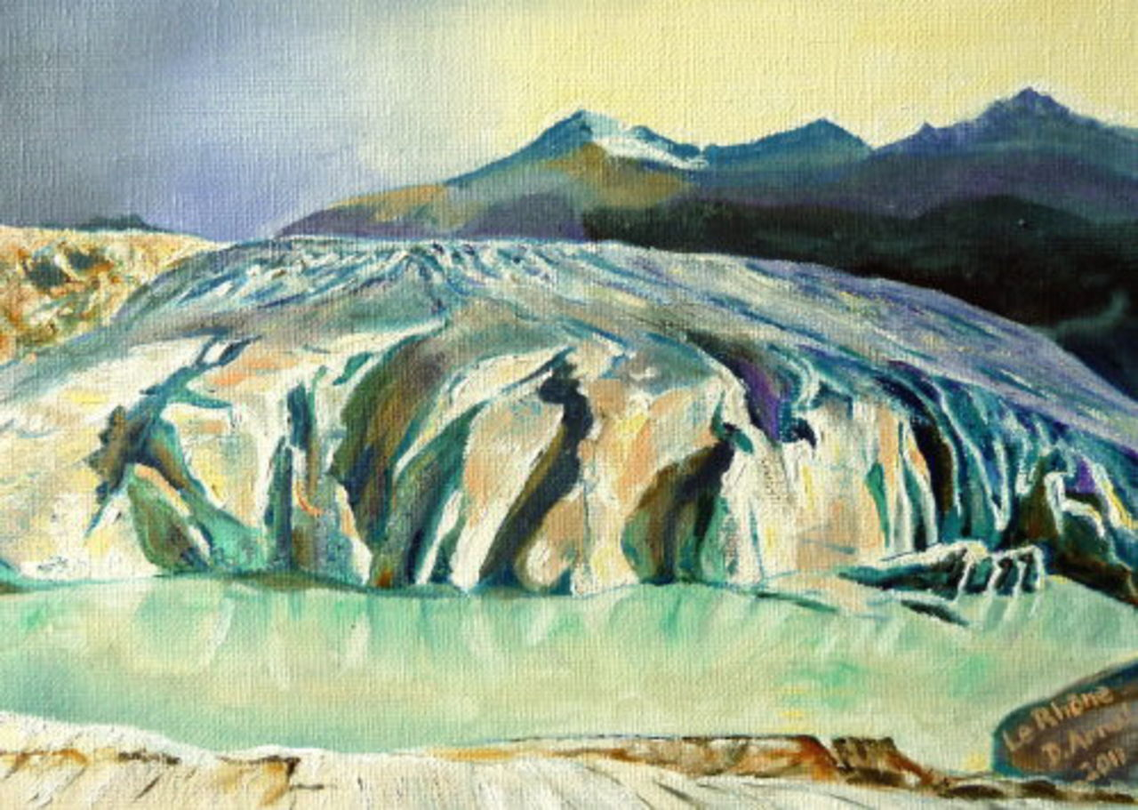 Danielle Arnal Glacier du Rhône