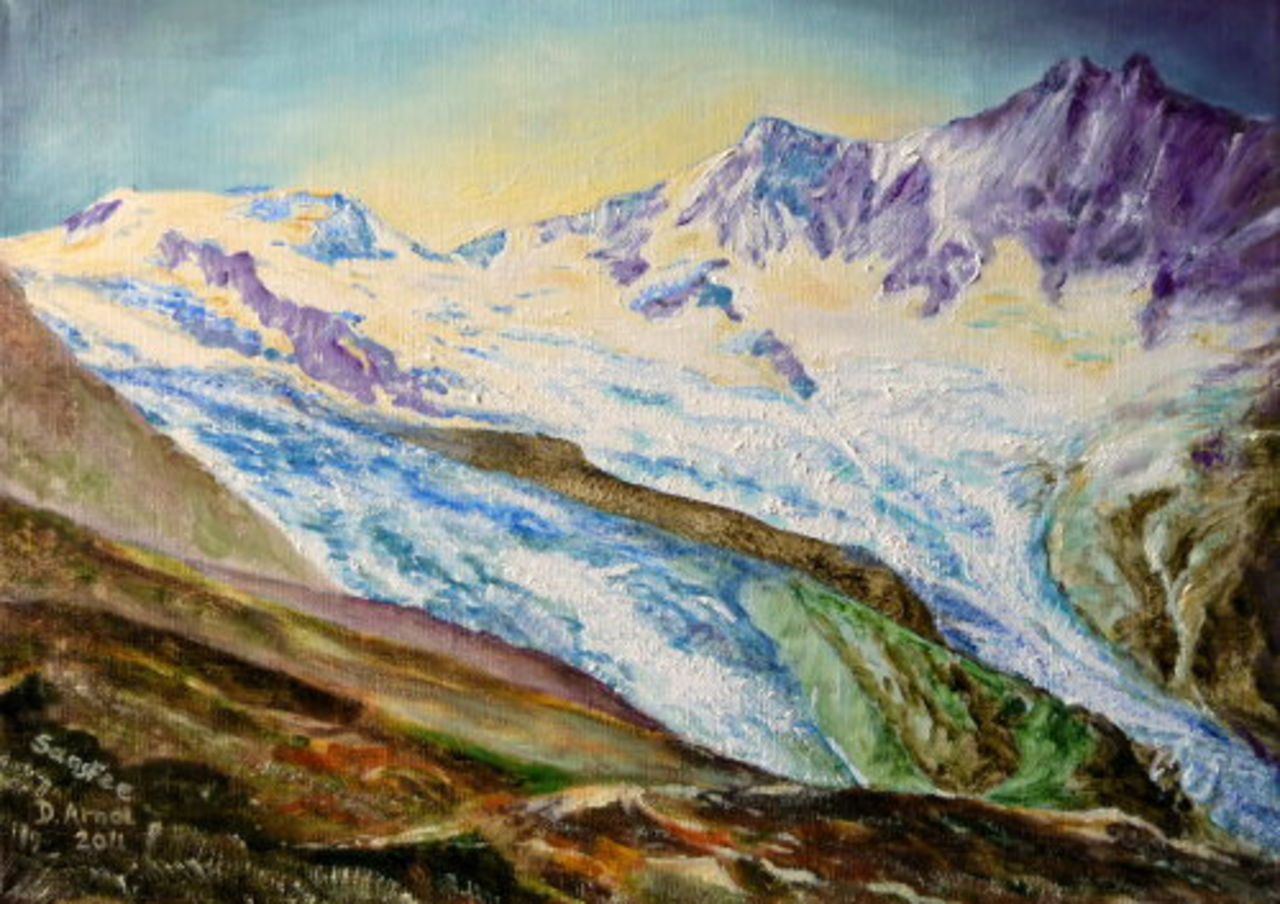 Danielle Arnal les glaciers de Saas Fee